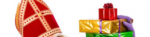 Sinterklaas met cadeau's